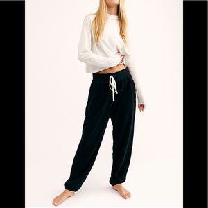NWT FREE PEOPLE Slouch Drawstring Jogger Pants L